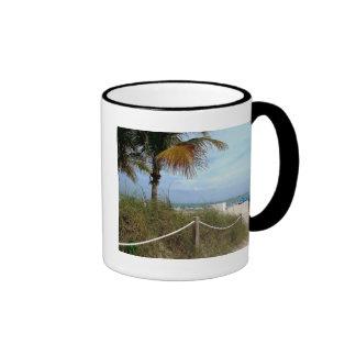Pathway to the Ocean Ringer Coffee Mug