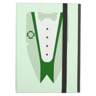 Pati O'Case Shades of Green Dinner Jacket Effect iPad Air Cover