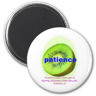 Patience 6 Cm Round Magnet