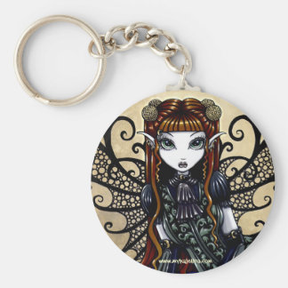 """Patience"" Auburn Haired Goth Faery Key Ring"