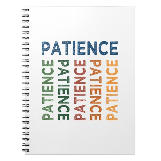 Patience Cute Colourful Spiral Notebook