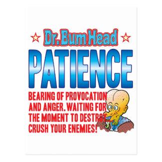 PATIENCE Dr Bum Head Postcard