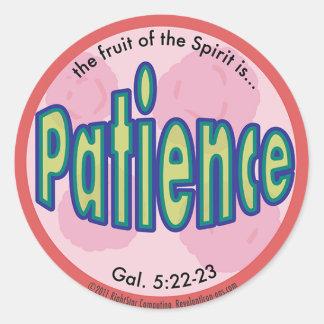 Patience Fruit of the Spirit Spots Sticker