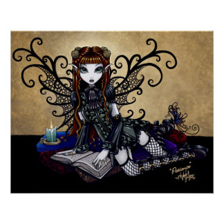 Patience Gothic Faery Candle light Poster
