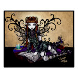 Patience Gothic Reading Fairy Poster