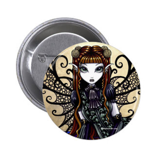 """Patience"" Gothic Victorian Fairy Art Button"