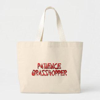 PATIENCE GRASSHOPPER CANVAS BAG