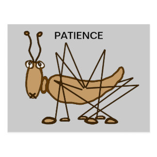 PATIENCE GRASSHOPPER POSTCARD