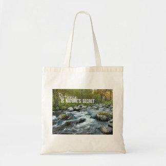 Patience is Natures Secret Inspirational Bag
