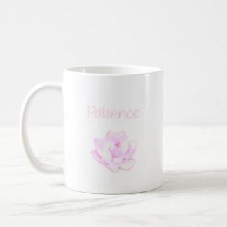 patience lotus flower mug