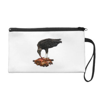 Patience Pays Scavenger Eating Road Kill Wristlet Purse
