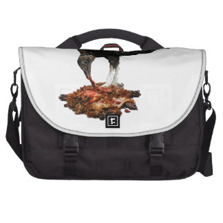 Patience Pays Scavenger Eating Road Kill Laptop Commuter Bag