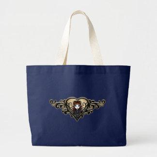 Patience Tattooed Heart Scroll Fairy Winged Bag