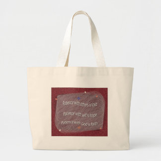 Patience with God Jumbo Tote Bag