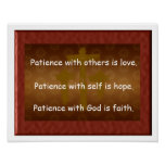 Patience with God Print
