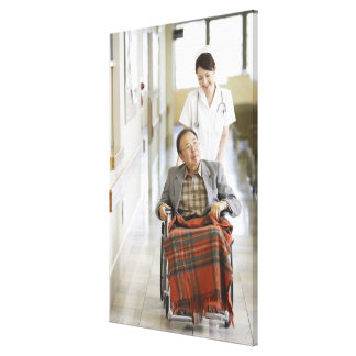 Patient and nurse canvas print