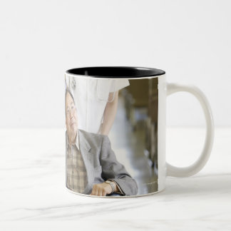 Patient and nurse Two-Tone coffee mug