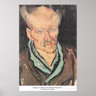 Patient at Hospital Saint-Paul by Vincent van Gogh Poster