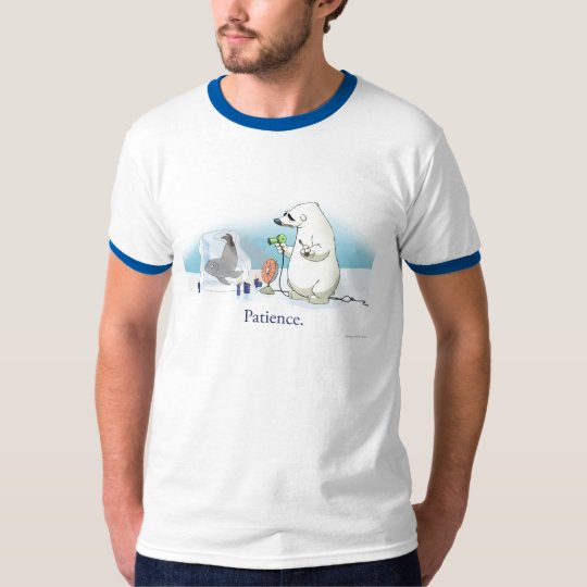 Patient Polar Bear (Faded Sky) T-Shirt