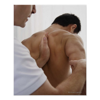 Patient receiving osteopathic treatment posters