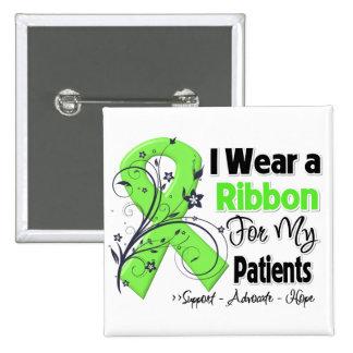 Patients - Lymphoma Ribbon 15 Cm Square Badge