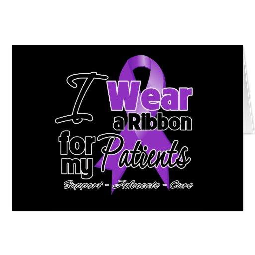 Patients - Pancreatic Cancer Ribbon Greeting Card