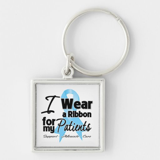 Patients - Prostate Cancer Ribbon Key Chain