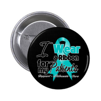Patients - Teal Awareness Ribbon 6 Cm Round Badge