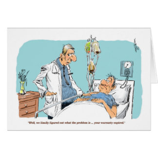 Patient's Warranty get well card