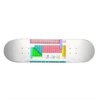 Patineta with periodic table skate board decks