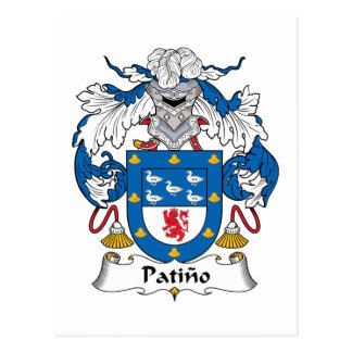 Patino Family Crest Postcard