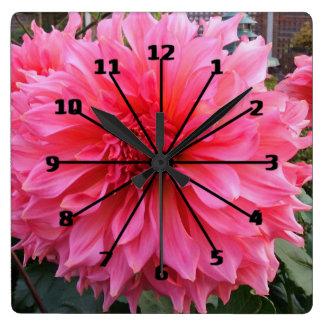 Patio Dahlia Clock