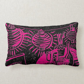 Patio party wine indoor or outdoor pillow