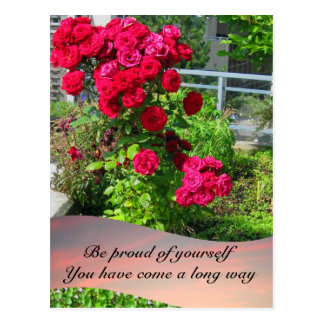 Patio Roses with Quote Postcard