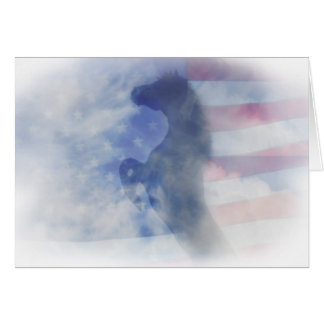 Patirotic Horse and Flag Note Card