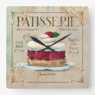 "Patisserie Clock, ""Frambosier"" Wall Clock"