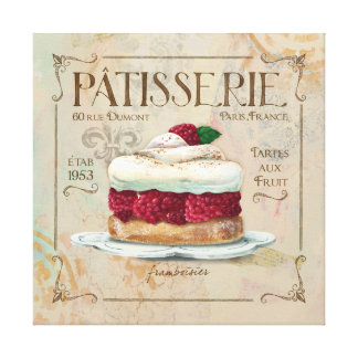 Patisserie I  French Wall Decor Canvas Print
