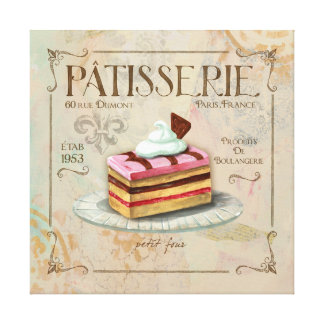 Patisserie II  French Wall Decor Gallery Wrap Canvas