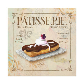 Patisserie III  French Wall Decor Canvas Prints