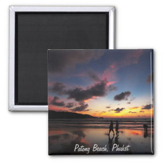 Patong Beach Collection Square Magnet