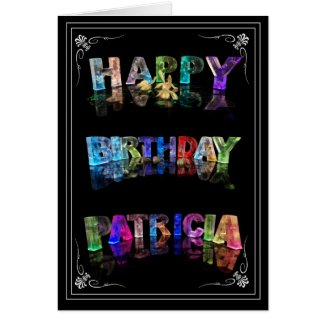 Patricia - Name in Lights greeting card (Photo)