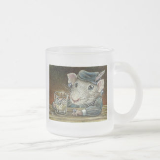 Patricia the rat frosted glass mug