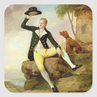 Patrick Heatly, c.1783-87 (oil on canvas) Square Sticker