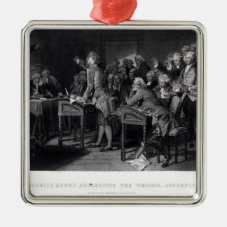 Patrick Henry addressing the Virginia Assembly Christmas Ornament