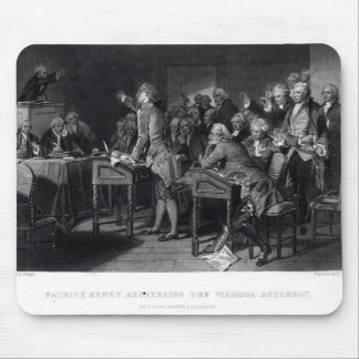 Patrick Henry addressing the Virginia Assembly Mouse Pad
