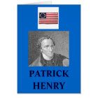 PATRICK HENRY QUOTE CARD