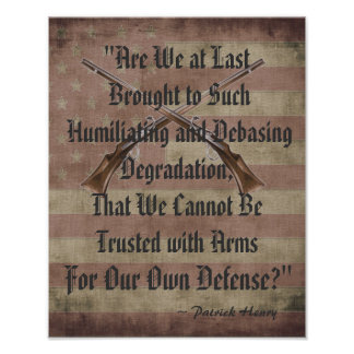 Patrick Henry Right to Bear Arms Print