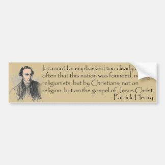 Patrick Henry Sticker Bumper Sticker