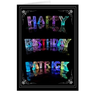 Patrick - Name in Lights greeting card (Photo)
