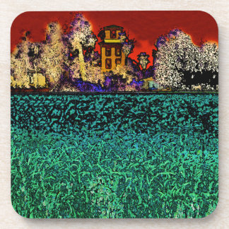 Patrick Ranch Chico CA In Red and Green Coaster